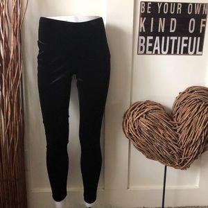 Lauren Conrad black velvet leggings